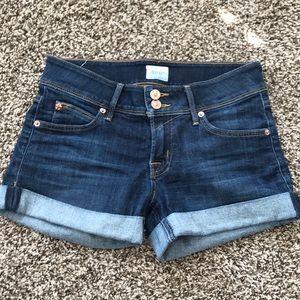 Hudson low rise denim shorts